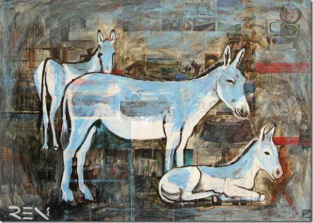 Wild Syrian Asses, by Agata Ren.