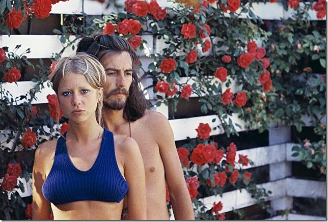Pattie Boyd and George Harrison.