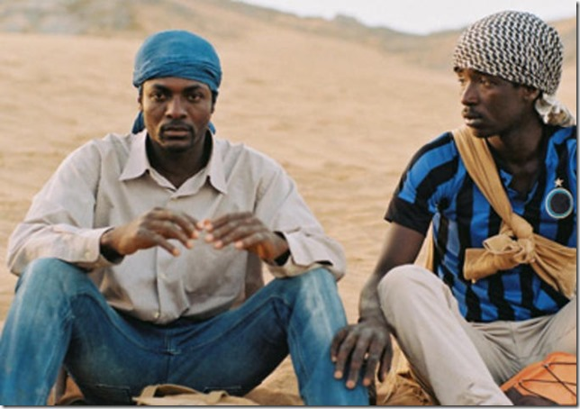 Koudous Seihon and Alassane Sy in Mediterranea (2015).