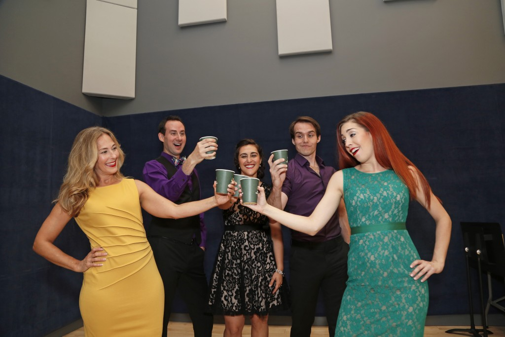 From left: Shelley Kellor, Michael Scott Ross, Jinon Deeb, Clay Cartland and Leah Sessa in The World Goes 'Round.
