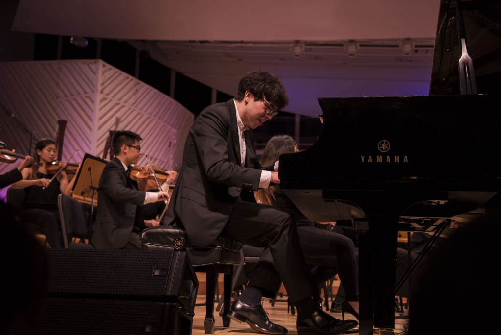 Tristan Murphy plays Rachmaninov on Saturday night at the New World Center. (Photo by Kristin Pulido)