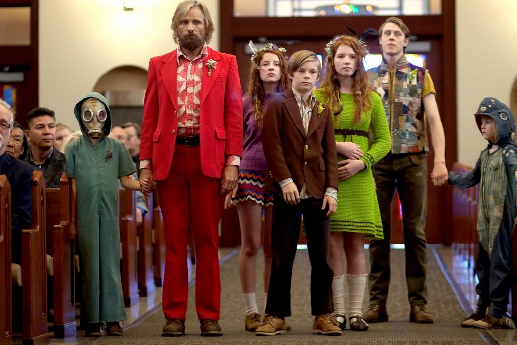 Viggo Mortensen and clan in Captain Fantastic.