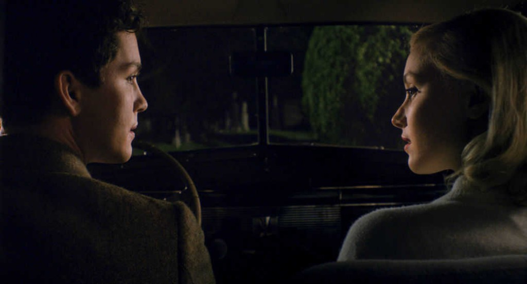 Logan Lerman and Sarah Gadon in Indignation.