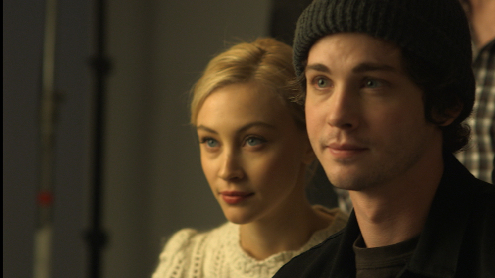 Sarah Gadon and Logan Lerman in Indignation.