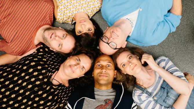 The cast of Don't Think Twice.