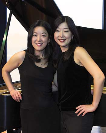 Yuki and Tomoko Mack, duo pianists.
