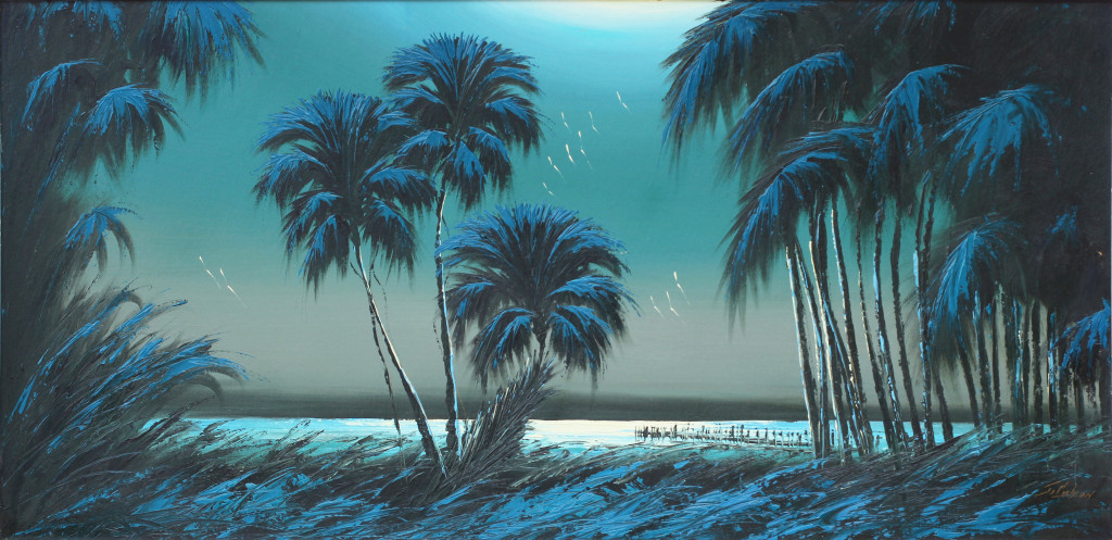 Moonlight Indian River Palms, by James Gibson.