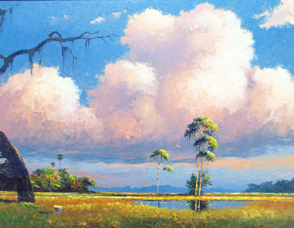 Pink Cloud Landscape, by Harold Newton.