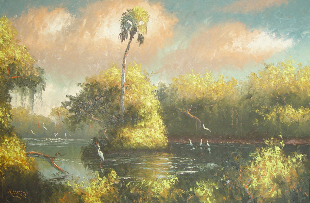 Spring on the Saint Lucie, by Alfred Hair.