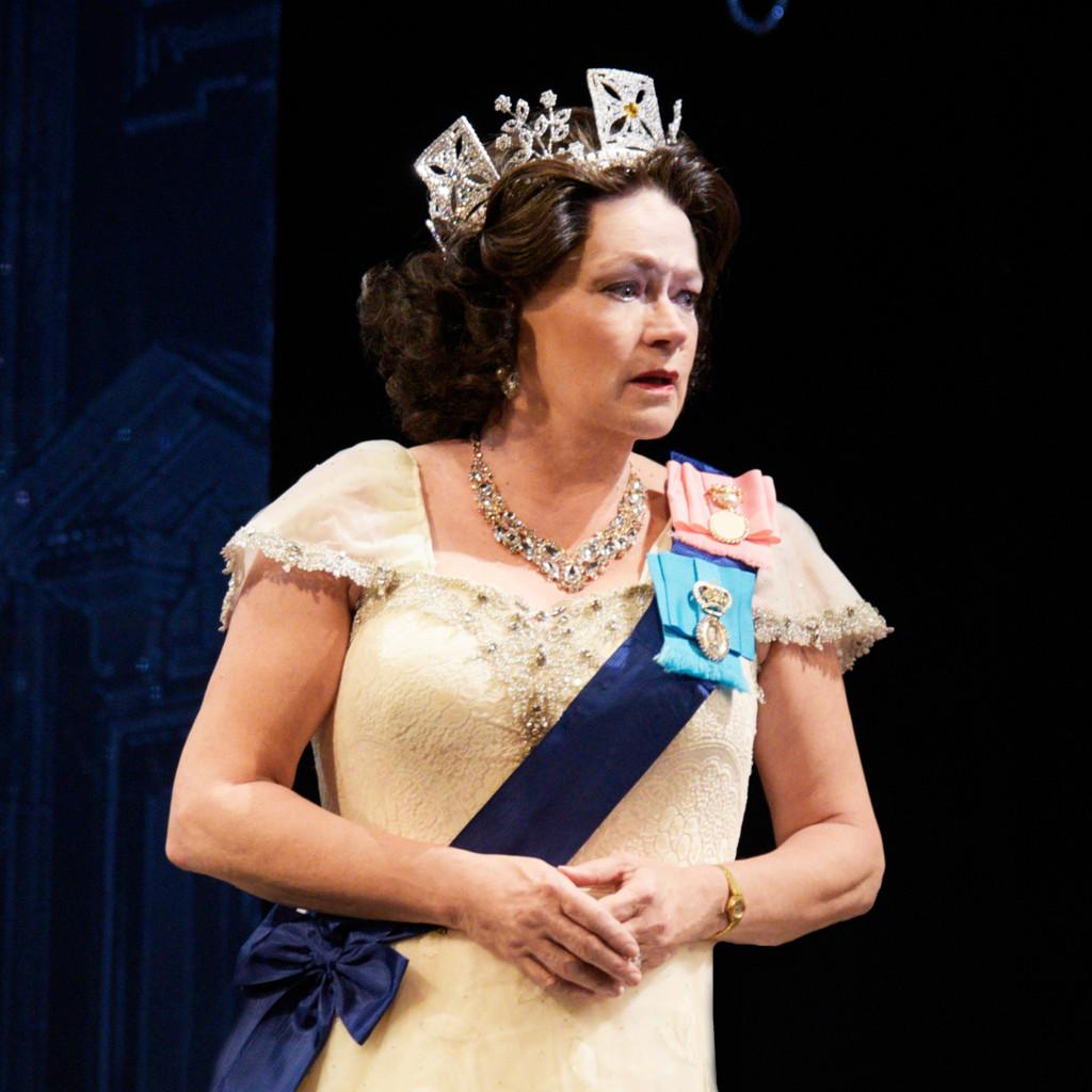 Karen MacDonald as Queen Elizabeth II in The Audience. (Photo by Alicia Donelan)