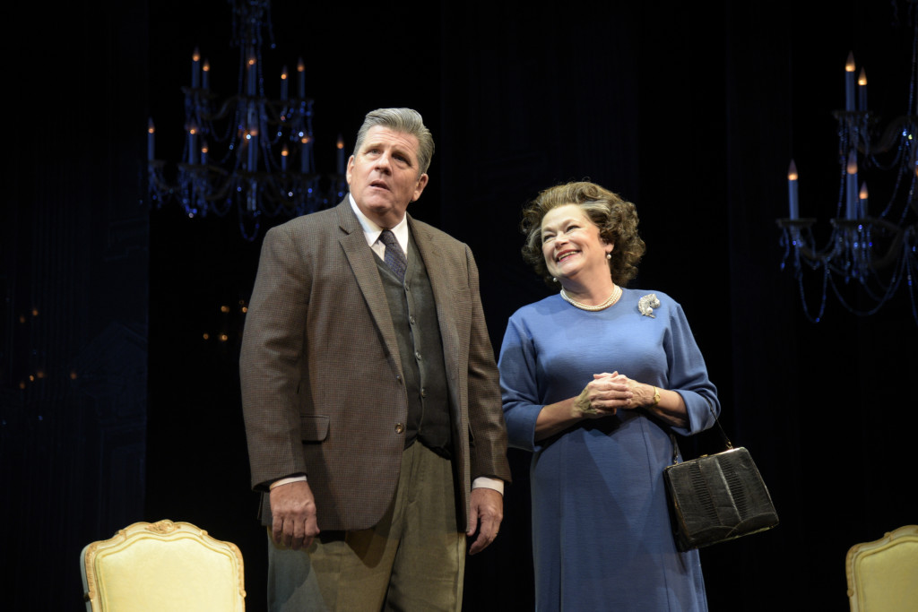 Rod McLachlan as Harold Wilson and Karen MacDonald as Queen Elizabeth II in The Audience. (Photo by Alicia Donelan)