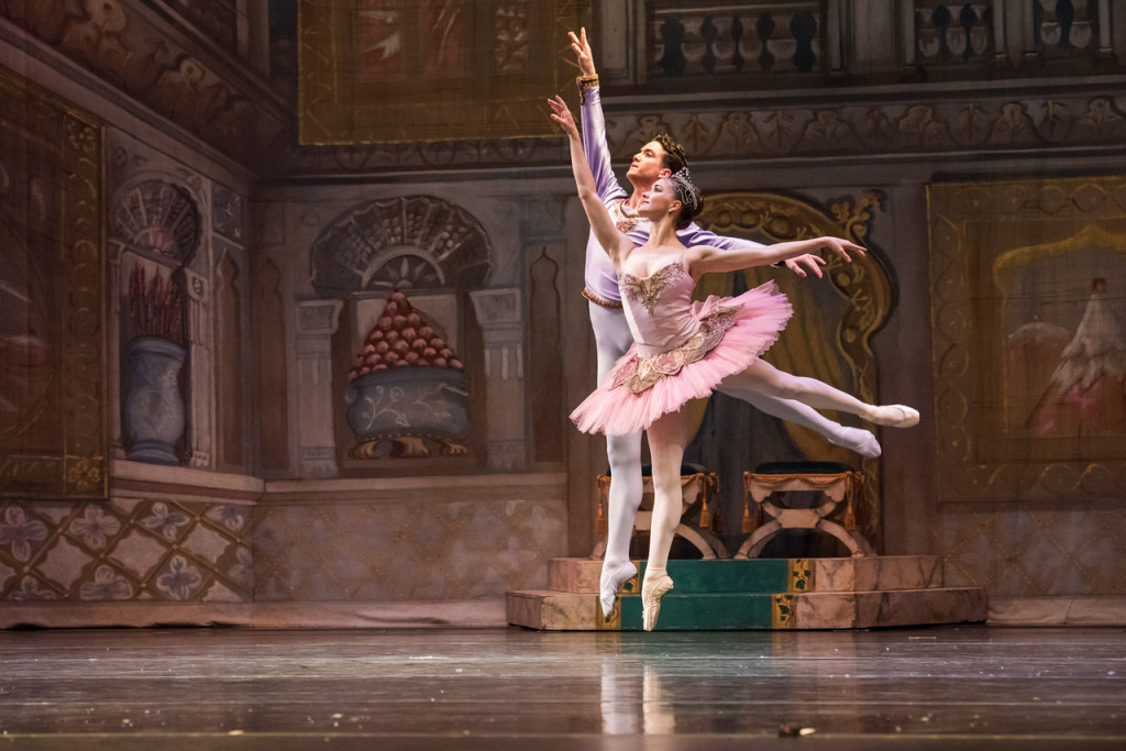 Cassandra Trenary and Gray Davis in Boca Ballet Theatre's The Nutcracker. (Photo by Silvia Pangaro)