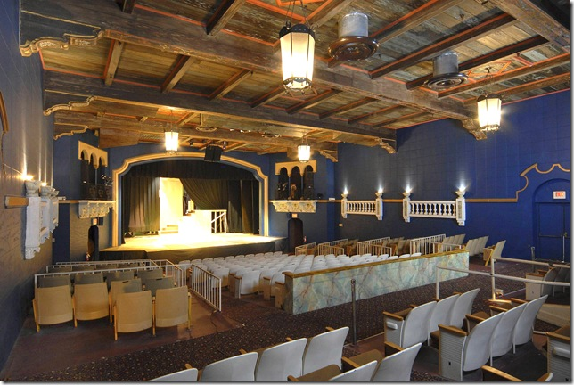 The interior of the Lake Worth Playhouse.