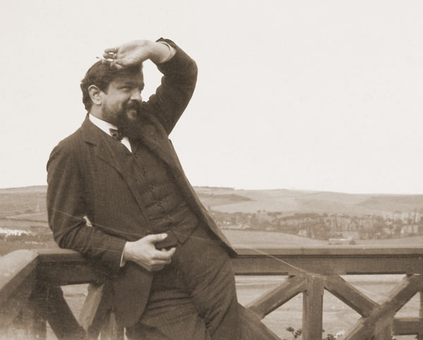 Claude Debussy (1862-1918) at Pourville, France, in 1904, as he was working on La Mer.