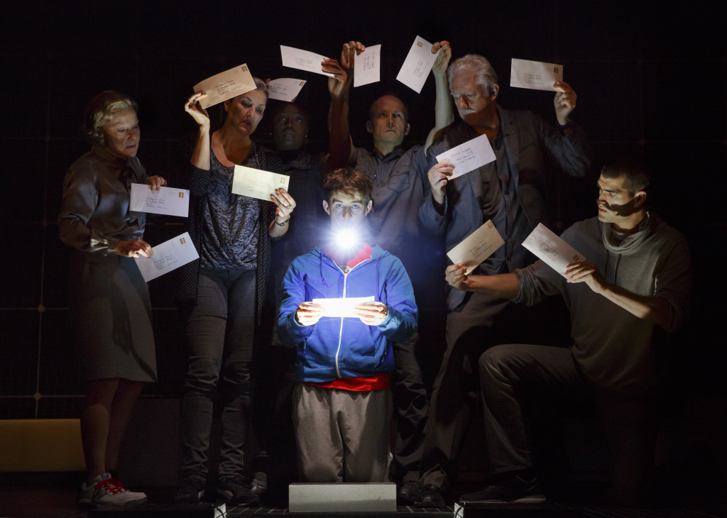The cast of The Curious Incident of the Dog in the Night-Time. (Photo by Joan Marcus)