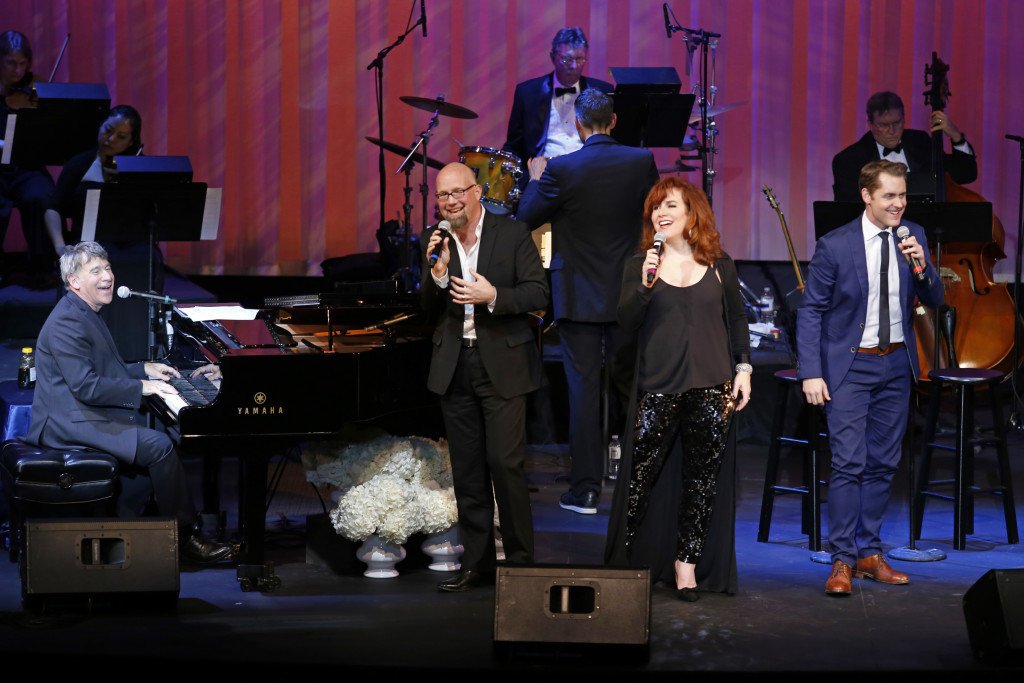 Composer Stephen Schwartz (left) with Scott Coulter, Debbie Gravitte and Michael McCorry Rose, in a Nov. 12 benefit for the Maltz Jupiter Theatre that raised $164,000. (Photo by Michael Price)