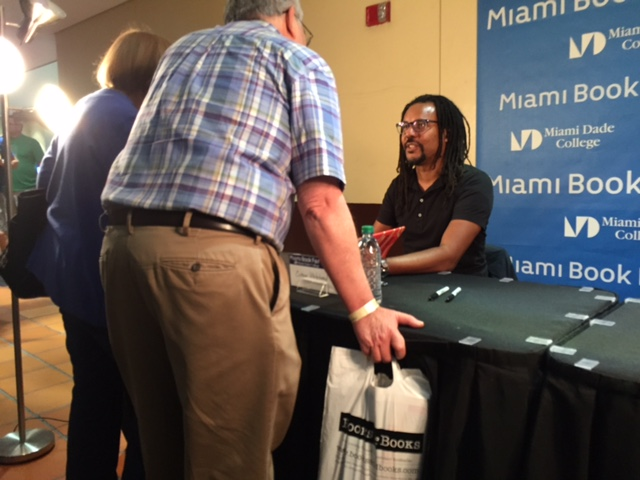 Colson Whitehead at the Miami Book Fair on Sunday. (Photo by Chauncey Mabe)