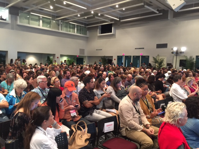 A standing-room only crowd was on hand Sunday night at Miami Dade College for Trevor Noah's appearance. (Photo by Chauncey Mabe)