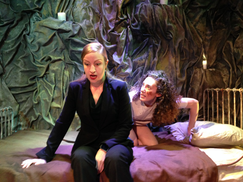 Vera Samuels and Emily Freeman in Cuddles. (Photo by Jamie Cooper)