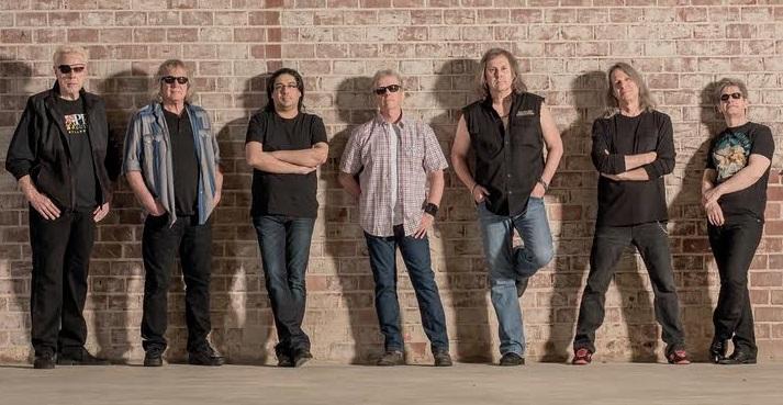 Kansas, from left: Richard Williams, Billy Greer, Zak Rizvi, Phil Ehart, Ronnie Platt, Dave Manion and David Ragsdale.