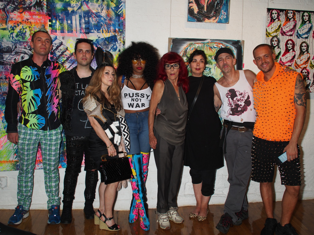 Patricia Field (fifth from left) with guest artists. (Photo by Tina Paul)