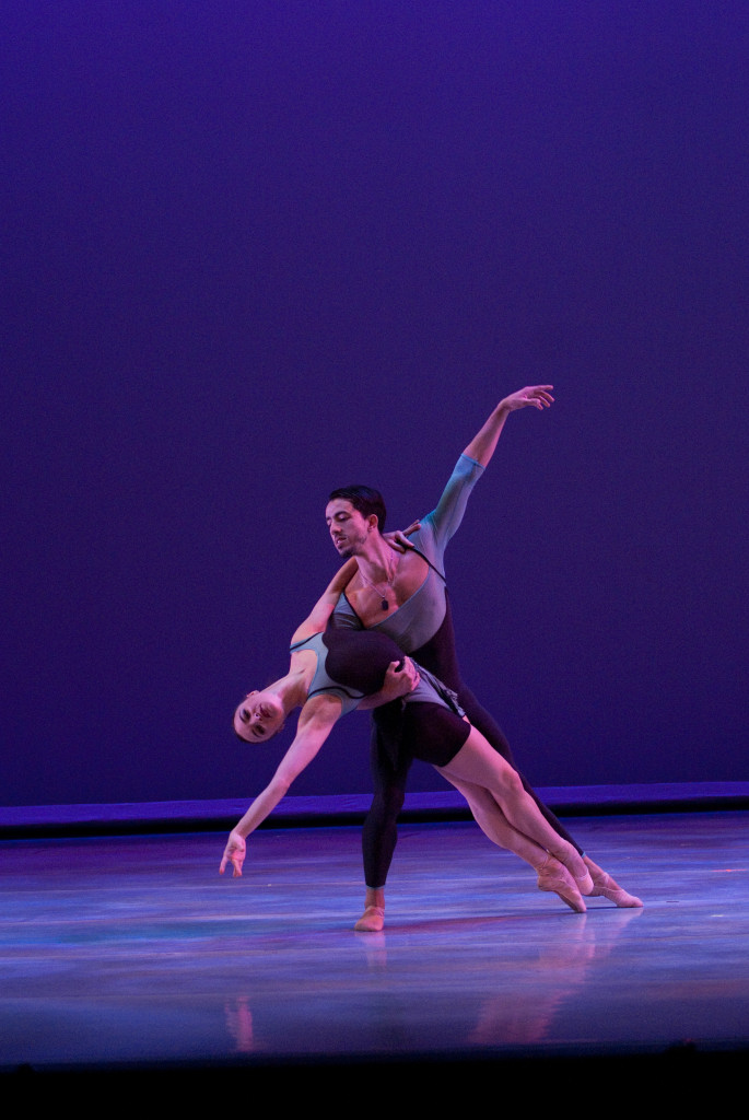 Madeleine Miller and Ricardo Gil in unRAVELed. (Photo by Janine Harris)