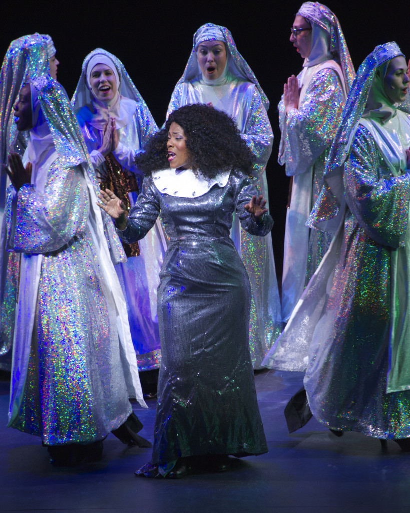 Patrece Bloomfield and colleagues in Sister Act. (Photo by Amy Pasquantonio)