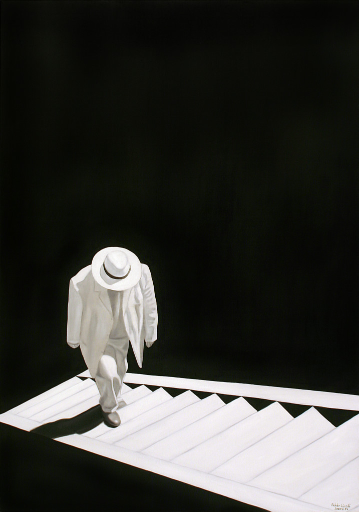 Self-Portrait with Staircase (2011), by László Féher.