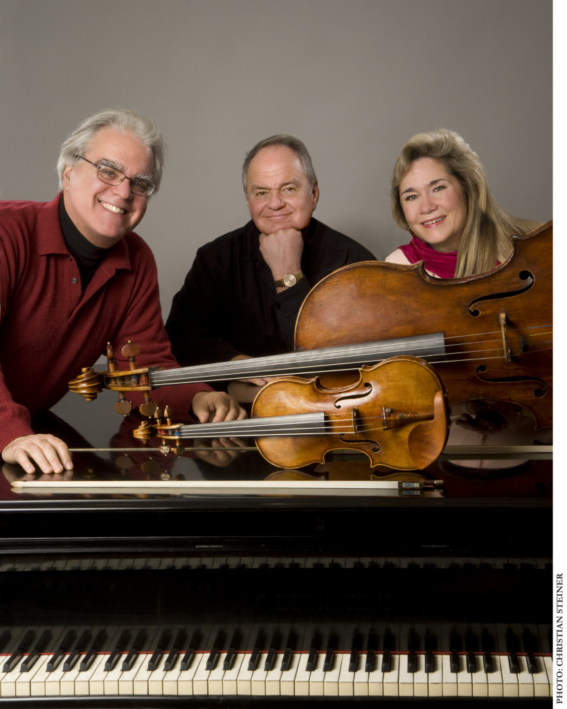 The Kalichstein-Laredo-Robinson Trio, from left: Joseph Kalichstein, Jaime Laredo and Sharon Robinson. (Photo by Christian Steiner)