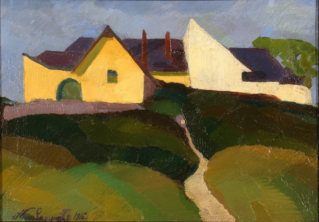 Street on Gellért Hill (1916), by Jószef Nemes-Lampérth.