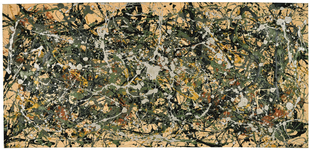 Number 8, 1949 (1949), by Jackson Pollock.