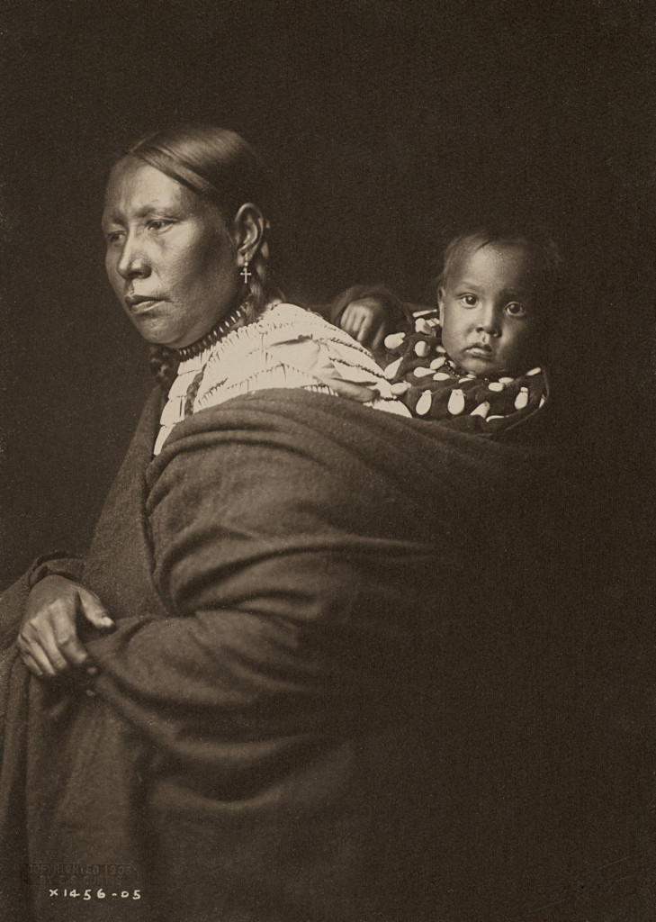 Sioux Mother and Child (1905), by Edward S. Curtis.
