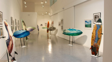 When art hangs 10: Custom surfboards at the Cultural Council
