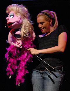 Nicole Piro, with Lucy T. Slut, in Avenue Q.