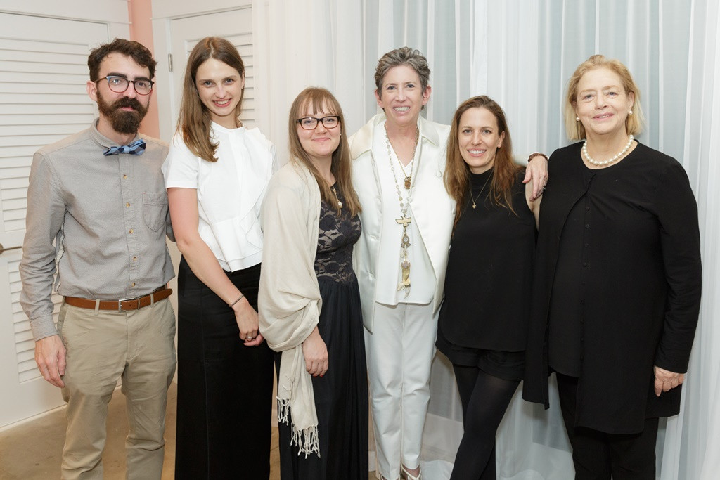 From left: Wesley Stringer, Alexandra Hunts, Clare Benson, Beth Rudin DeWoody, Elizabeth Bick and Hope Alswang, director of the Norton Museum of Art. (Photo by Jacek Gancarz)