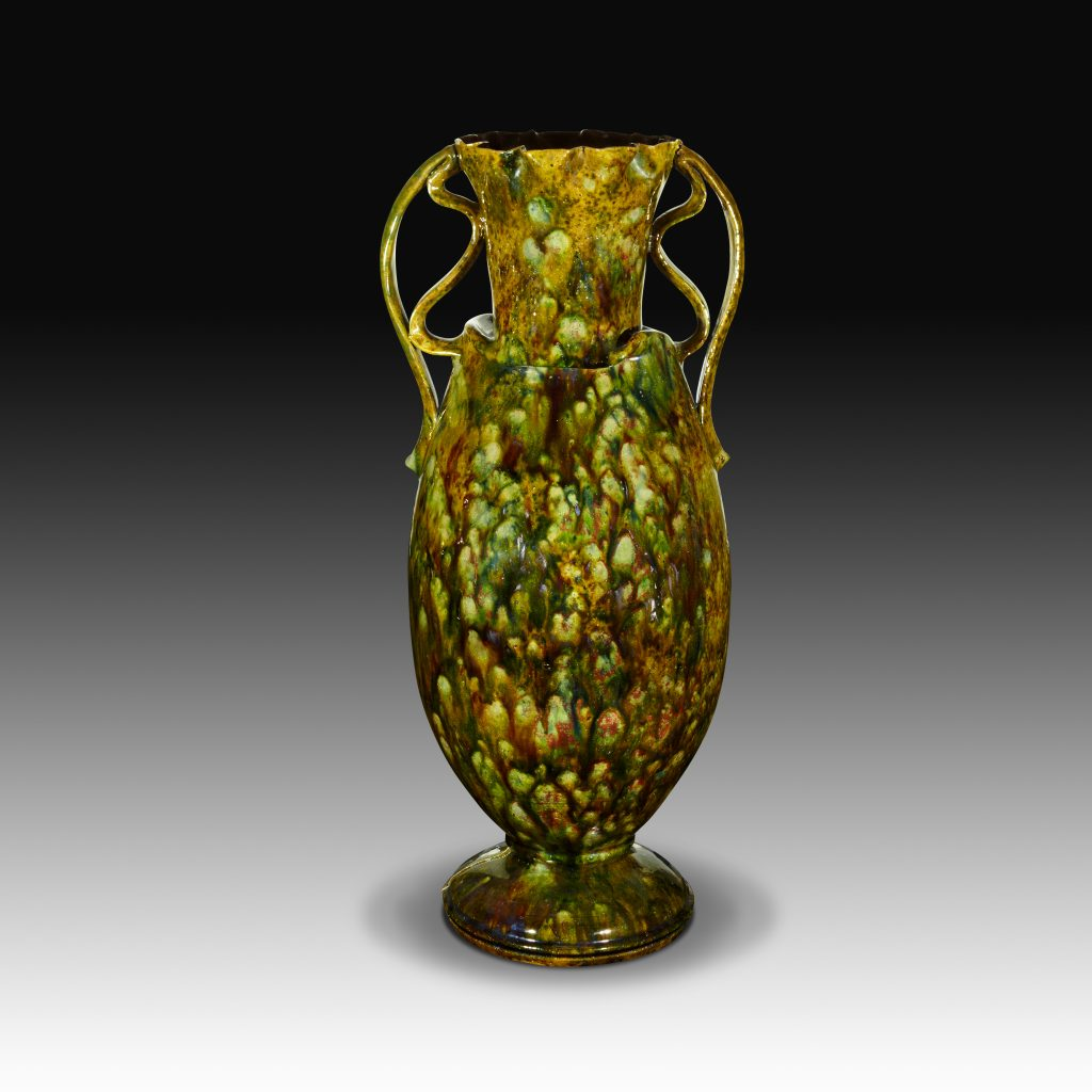 Boca museum celebrates mad potter ohr contemporary innovators very tall mottled two handled vase 1895 1900 by george ohr photo by phillip ennis reviewsmspy